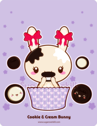 Cookie and Cream Truffle Bunny by mAi2x-chan