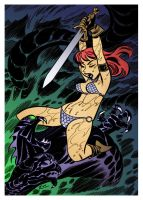 Red Sonja 2 by Bruce Timm by DrDoom1081