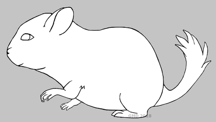 Chinchilla lineart (Free to use) by gamerd