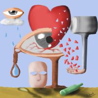 Heart break(Surreal) by unnibabu