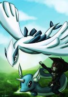 Pokemon Advent 2 Lugia and lance by ErgoAsch