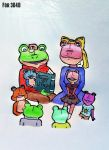 Request for 3D4D - Frog Family by Wolfanasan