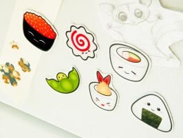 New Sushi Magnet Set by alexredford