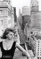 Pencil drawing - Natalie Wood - NY by byMichaelX