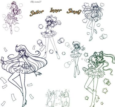 Sailor Inner Senshi Brush by uranus23