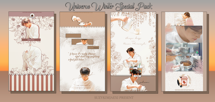 [SHARE PSD] Universe #Winter Special Pack1 @EXO by SuzyKimJaeXi