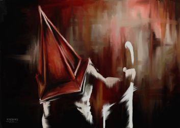 Red pyramid head - SH2 by VoidmageHusher