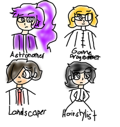 Beta Designs Of My Fanganronpa Characters 1 by february-6555