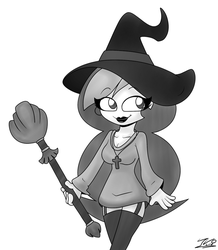 INKTOBER - Witch Ovina by IVOanimations
