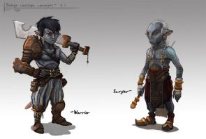 Delvyn character studies by Parkhurst