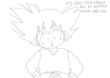 Kid Goku is curious about the world by Shreddinghead