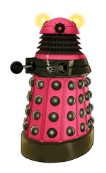 Pink Dalekanium [COLOUR-IN] by PonellaToon