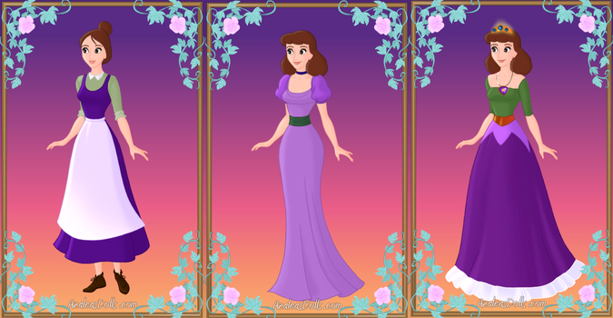 Patricia three outfits by tiedye237