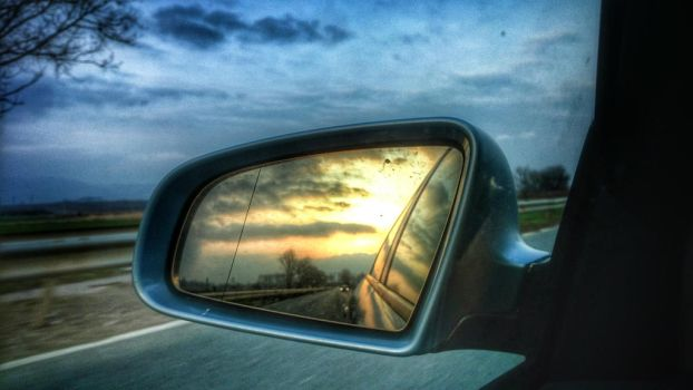 driving from sunset to dusk by burnchild