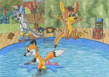 Pool Party by Tails--the--Fox