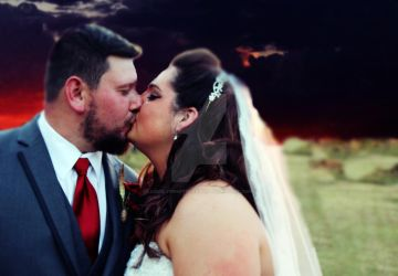 Sunset Wedding in Luther, Oklahoma 2 by LovelyBPhotography