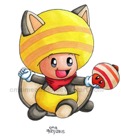 Super Mario Suits Collab: Flying Squirrel Toad by cmdixon589