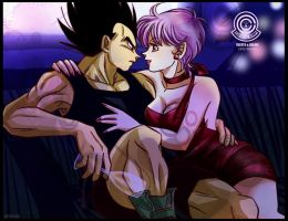 Vegeta and Bulma love by AutarAllil