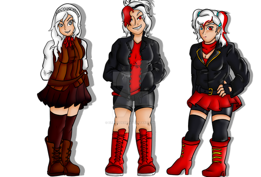 Underspell UnderFell and SwapFell Sans - the girls by EliHedgie95