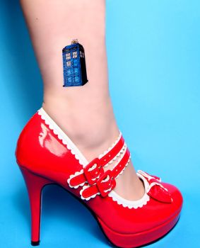 Temporary TARDIS Tattoo Doctor Who by LilithScream