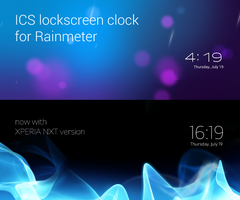 ICS Lockscreen Clock for Rainmeter by VakiNakamura