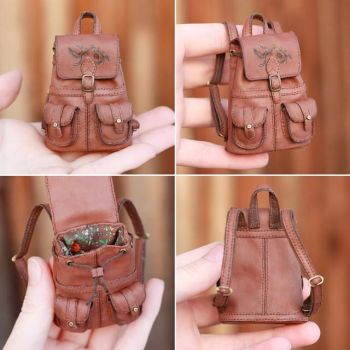 1/6 scale Backpack for a Doll by striped-box