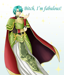 Ephraim in his dad's fabulous dress by Victoriathekitty