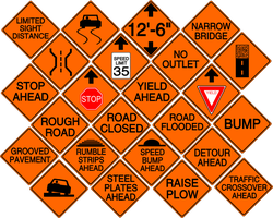 Diamond Construction Signs- Conditions by MetalPikachu3500