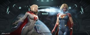 INJUSTICE 2 - POWER GIRL vs SUPERGIRL by Gaaracapo111
