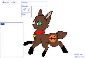 Basketball fox adopt (closed) by FlameNelson