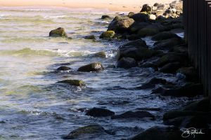 Rocks on the water. by B-Richards