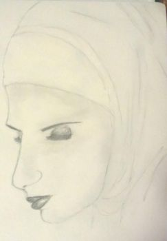 woman in headscarf by mslillymonster
