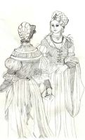 German patrician women - 16th century by Pencilivy