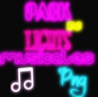 Pack de lights musciales png by WackoKunVidal