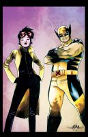 Wolverine and Jubilee Cover by richyunspoken