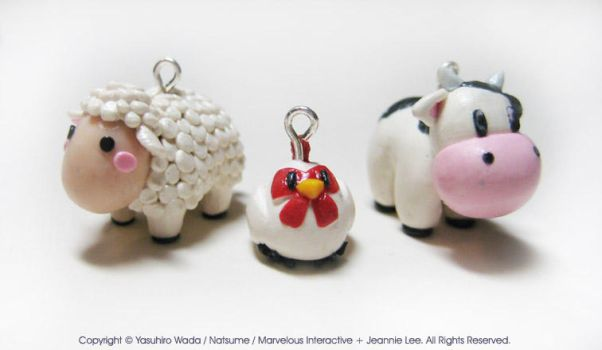 Harvest Moon Charms by junosama