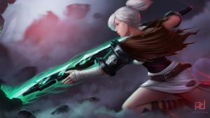 Riven - The Exile League of Legends Fanart by patrickdeza