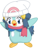 Commission: Dawn the Piplup by P1nkApple