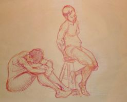 Life Drawing December 2013 by Gizmoatwork