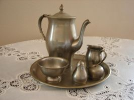 Pewter Tea Service by FantasyStock
