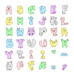 The Fluffy Latin Alphabet by SqrtTwo