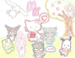Its a Hello Kitty World by psycho-gummybearz