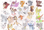 Disney animals by LetterBomb92