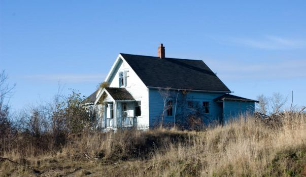 house on the hill by JensStockCollection