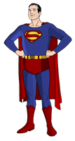 George Reeves Superman by Alexbadass