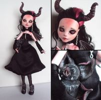 Little Imp-Girl - Monster High Draculaura custom by fuchskauz