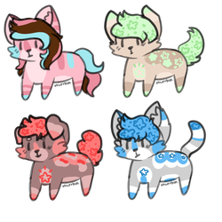 more 100 point smol adoptables closed lol by cactus-child