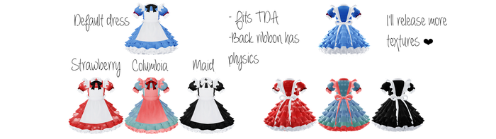 MMD Tera Alice Dresses DL! by ScarlettAckerman