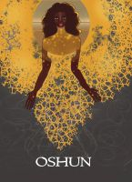 Black Goddess Orisha Oshun by numythology