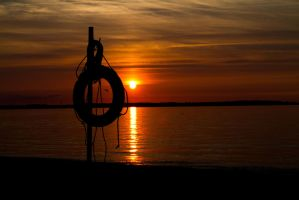 Sunset at the Baltic Sea III by Desire--and--Sin